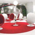 Poltrona Ball vermelha