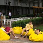 Puff Saco amarelo (1)