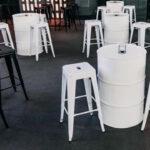 kit 44 tambor barril de oleo e banqueta tolix